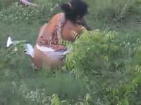 College girls caught peeing