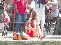 Sexy Girl Across the Harbour – Lunch in the Sun