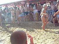 Girls Game At The Beach