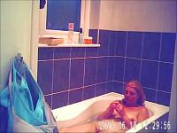 Woman Bathes And Showers...and Masturbates