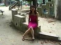 Shy Japanese In A Playground