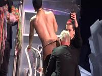 Gaga Strips Onstage