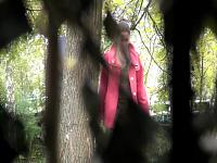 Girls pee in the park 6
